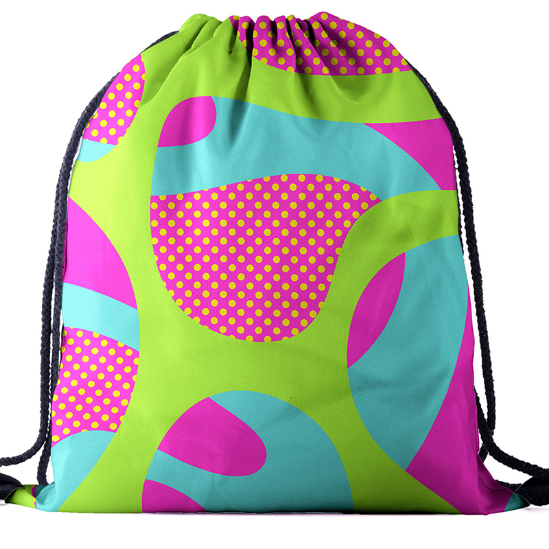 New Backpack Drawstring BAGS Drawstring Fashion Printing Travel Softback Men Bags Unisex Women's Shoulder Bag Knapsack Geography