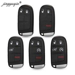 Jinyuqin 2/3/4/5BTN samochodów inteligentne etui na klucz Shell dla Jeep Grand Cherokee Dodge Ram 1500 podróż ładowarka Dart Challenger Durango Fiat