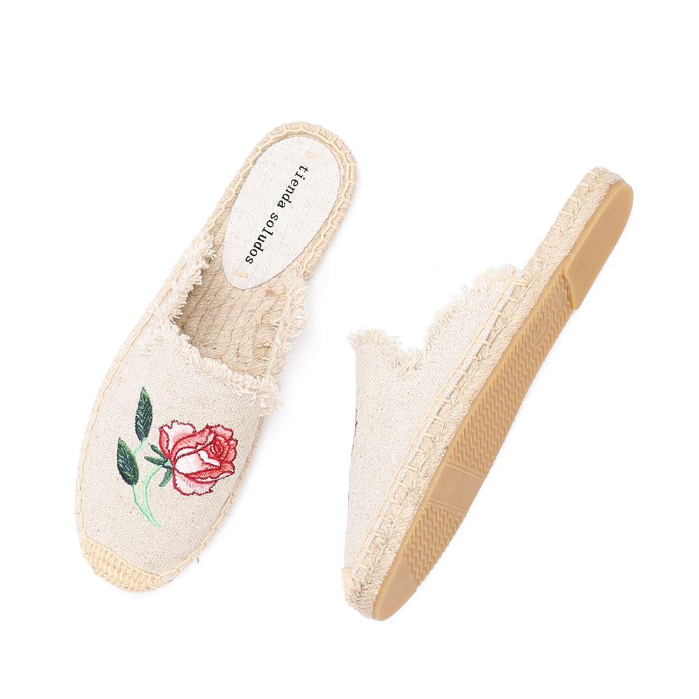 2019 Rushed New Arrival Hemp Summer Rubber Cotton Fabric Unicornio Slippers Tienda Soludos Espadrille Slippers For Flat Shoes  1