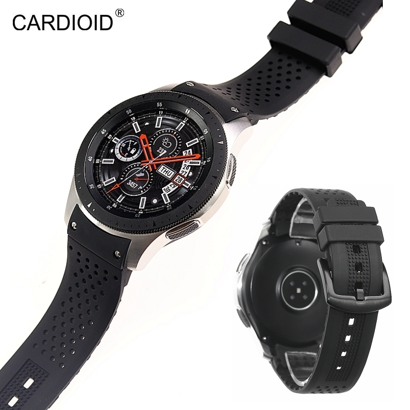 Image 2 - New style high end 22mm silicone strap bracelet bracelet for Samsung Gear S3 S4 Galaxy Watch 46mm watch strap watchbands-in Watchbands from Watches