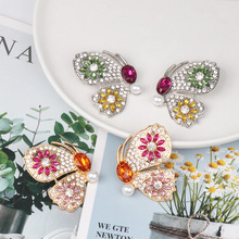 Bohemian Colorful Shiny CZ Crystal Butterfly Earrings for Women Gold Color Metal Big Drop Dangle Earrings Statement Jewelry Gift fashion big flowers drop earrings jewelry earrings for women dangle pendant statement bohemian wedding earrings gift
