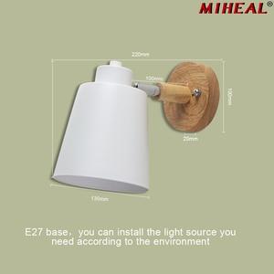 Image 1 - Lámpara de pared LED nórdica, creativa, para comedor, restaurante, pasillo, cafetería, dormitorio