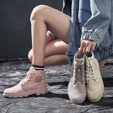 Liren 2019 Spring/Autumn Fashion Casual Women Boots Lace-up Round Toe Flat Heels Ankle Flat Med High Heels Comfortable Boots liren 2019 spring autumn fashion casual women boots lace up round toe flat heels ankle flat med high heels comfortable boots