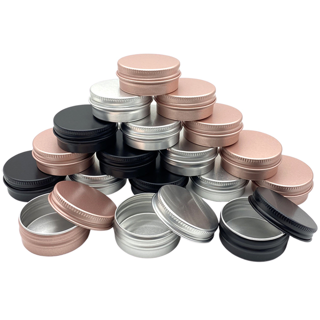 100pcs 5/10/15/30/50/60g aluminum can, cream can, conditioner, eye cream tin can, cosmetic container