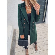 Slim Winter Wool Blends Oversize 3XL Women Long Coat Autumn