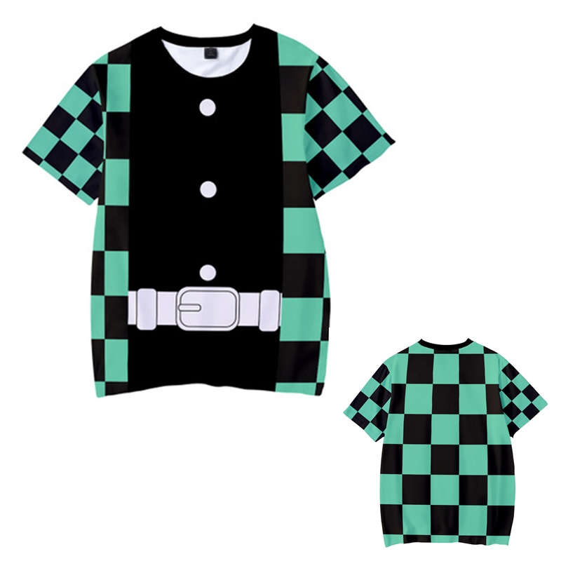 Kids Boys Devils killer T-shirts 3d Print Cosplay Japanese Ghost blade Children Summer Short Sleeve Tshirts Demon Slayer Clothes 16