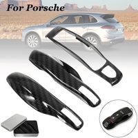 3pcs Carbon Fiber Color FOB Remote Key Case Shell Cover for Porsche Boxster Cayman 911 Panamera Cayenne Macan Car Key Accessorie|Key Case for Car| |  -