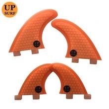 Surfboard fins FCS G5/G3+GL fin Honeycomb Carbon Fibreglass Quad set 4pcs upsurf logo