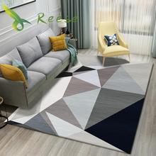 New Bohemia Style Washable Carpet Rug For Living Room Modern Printing Geometric Floor Parlor Mat Bedroom Washroom