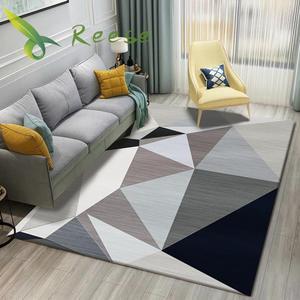 New Bohemia Style Washable Carpet Rug For Living Room Modern Printing Geometric Floor Rug Carpet For Parlor Mat Bedroom Washroom(China)