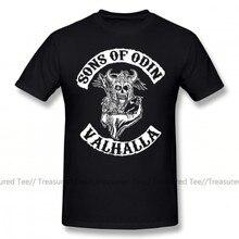 Sons Of Anarchy T-shirt Sons Von Odin Valhalla Kapitel T-Shirt Streetwear Genial T-shirt Short-Hülse Männer 100 baumwolle T-shirt