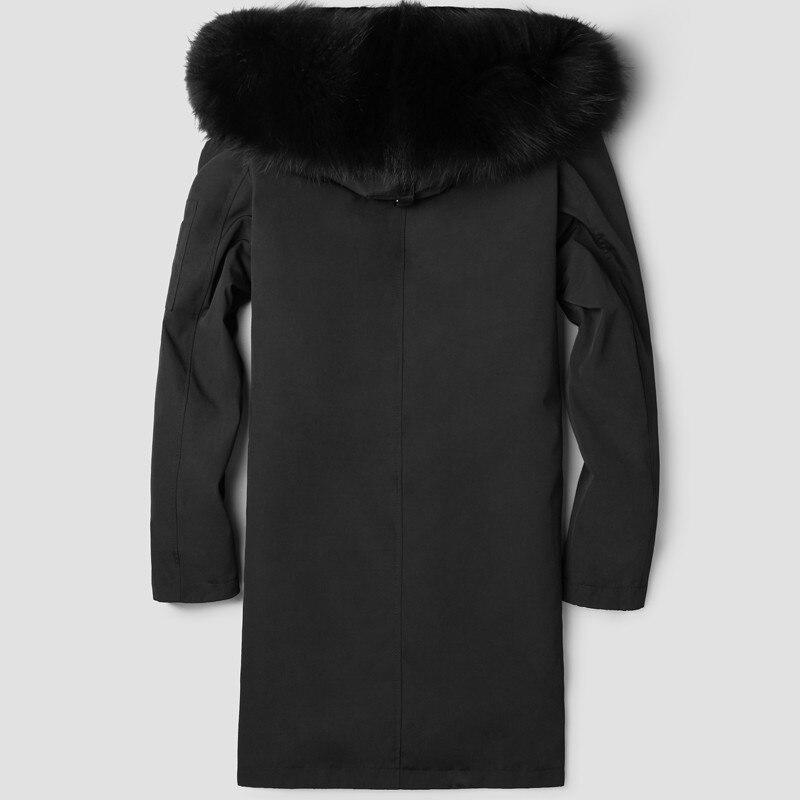 Winter Jacket Men Parka Real Fur Coat Men 100% Wool Liner Fur Coats Raccoon Fur Collar Parkas Hombre LSY088098 KJ2441