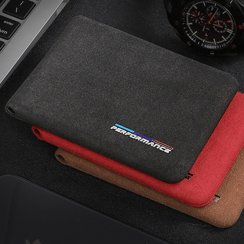 For BMW E46 E90 E60 5/6/7 Series F10 F20 F30 GT F07 X3 f25 X4 X5 X6 Alcantara Bank Credit ID Card Holder Men Card Package Holder image