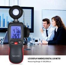 Цифровой светильник люксметр Люкс/измеритель FC автоматический ручной осветительный прибор люминометр фотометр 200000 люкс Удержание данных