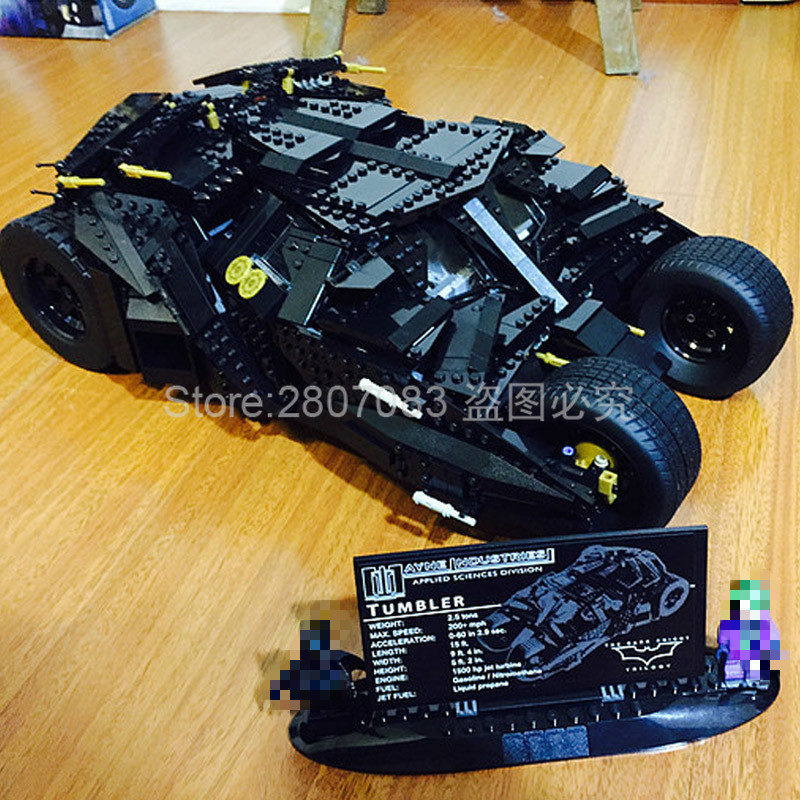 1969pcs Super Herose Movie Building Blocks Toys For Children Batman Armored Tumbler Kids Bricks Gifts Compatible Batman 76023