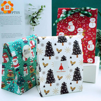 6PCS/Set Mix Types Snowflakes Candy Gift Bags Snowman Merry Christmas Guests Packaging Gifts Boxes Christmas Party Gift Decor merry christmas candy gift boxes deer xmas tree guests packaging boxes gift bag christmas party favors kids gift decor