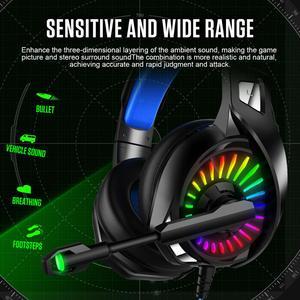 Image 2 - PS4 casque de jeu 4D stéréo RGB chapiteau écouteurs casque avec Microphone pour nouveau Xbox One/ordinateur portable/ordinateur tablette Gamer