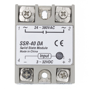 SSR-40 DA Solid State Relay, DC to AC Solid State Relay Module SSR-40DA Temperature Controller 24V-380V 40A 250V(China)