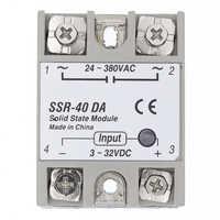 SSR-40 DA relais à semi-conducteurs, DC à AC Module de relais à semi-conducteurs SSR-40DA régulateur de température 24 V-380 V 40A 250V