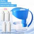 Jarro alcalino da água do ionizador do jarro do filtro de água do hidrogênio 3.5l mineral com 4 filtros da substituição ph 8-10 orp-100 a-300mv