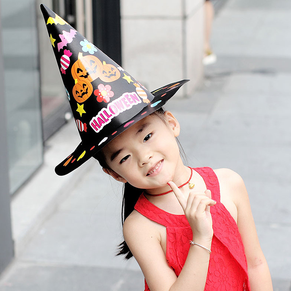 Halloween Hat Masquerade Party Props Toy Children's Handmade DIY Toy Hat Educational Toy Adult Kids Cosplay Costume Accessories