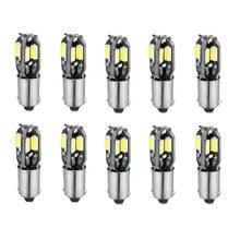 Светодиодный canbus-светильник T11 ba9s 5630, 10 шт., без ошибок, T4W h6W, светодиодный светильник для чтения салона автомобиля, белый источник света 6000K 12v