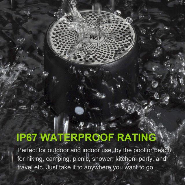 Ewa alto-falante bluetooth ip67 à prova dip67 água mini alto-falantes portáteis sem fio a106pro coluna com caso baixo radiador para casa ao ar livre 5