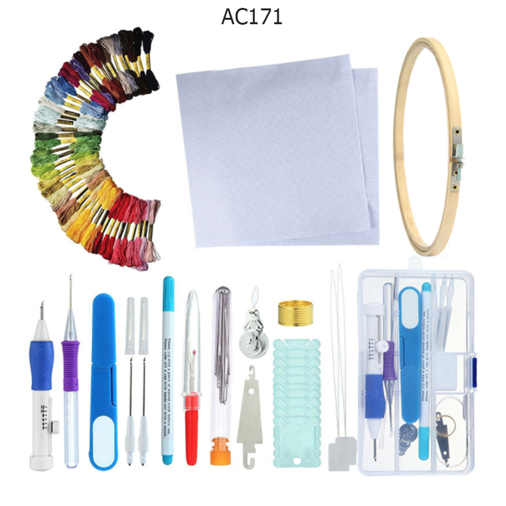 DIY Magic Embroidery Stitching Punch Needle Tool Stitching Punch Pen With Case Sets DIY Craft Sewing Tool aguja magica para bord(China)