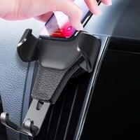 Soporte de teléfono Gravity para coche, montaje de Clip de ventilación de aire para teléfono móvil, No magnético, para iPhone y GPS