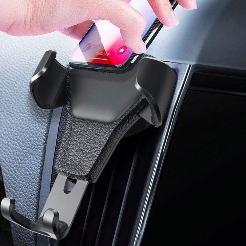 Gravity uchwyt samochodowy na telefon w samochodzie odpowietrznik zacisk mocujący nie magnetyczny uchwyt do telefonu stojak na telefon komórkowy wsparcie dla iPhone GPS