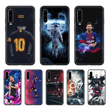 Messi World Cup Football Phone case For Huawei P 30 10 20 40 Lite Smart Z Pro 2019 black cover 3D waterproof soft shell art image