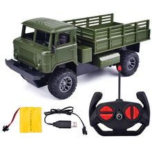 1:20 2.4GHz Remote Control 4WD LED Light Off-Road Military Truck RC Car Vehicle R9UE 1 12 mn 90k rc crawler car 2 4g 4wd remote control big foot off road crawler military vehicle model rtr remote control truck toy