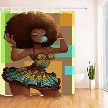 Lb занавески для душа в Африканском и американском стиле водонепроницаемые