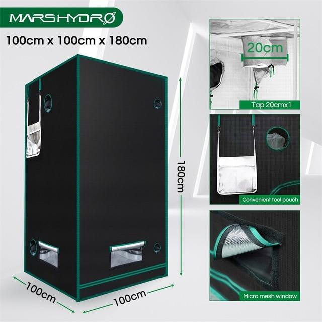 Marshydro 100x100x180cm Grow Tent 1680D indoor  3