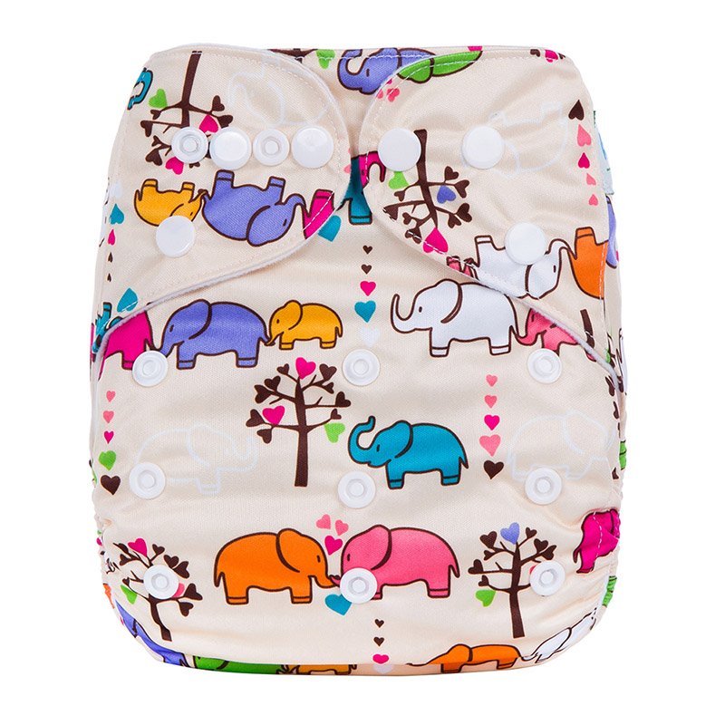 Cloth Baby Nappy Reusable One Size Terry Baby Cloth Diapers Colorful Diaper Covers Cloth Diapers L11