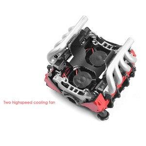 Image 5 - Simuleren LS7 V8 Elektrische Motor Motor Radiator Dual Koeler Voor 1/10 TRX4 Defender SCX10 Rc Rc Crawler Onderdelen Koelventilator