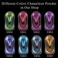 8 Packs Chamäleon Pigment Pulver Beschichtung Acryl Farbe Chameleon Farbstoff für Autos Automotive Handwerk Nagel Dekoration Malerei 10 gr/paket-in Acrylfarben aus Büro- und Schulmaterial bei