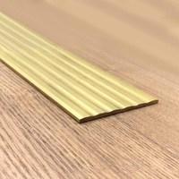 Customized 70mm Flat Non slip Brass Stripe Layering Edge Banding Straight Line Copper Antislip Strip Non Slip Decorative Strip