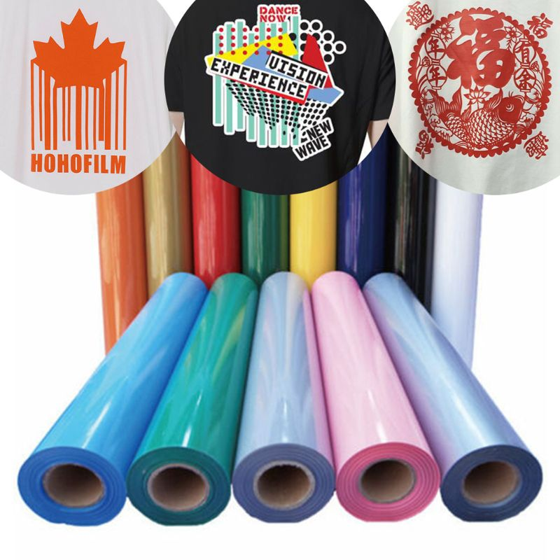 HTV PVC Heat Transfer Vinyl Roll Easy To Cut Weed Permanent Adhesive T-Shirts Iron On Vinyl Heat Press Film 20cm X100cm