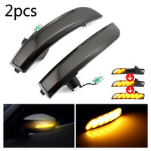 1 Pair Rear View Mirror LED Indicator Turn Signal Light For Ford Kuga Ecosport Placement on the vehicle: Front, Right and Left(China)