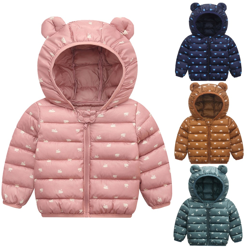 Jackets Coat Outwear Snowsuits Baby Baby-Boys-Girls Toddler Winter Hooded Windproof Warm title=