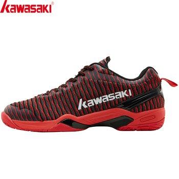Обувь для бадминтона Kawasaki 2020, профессиональная спортивная обувь для мужчин и женщин, кроссовки, противоскользящие, удобные, с защитой от тор...