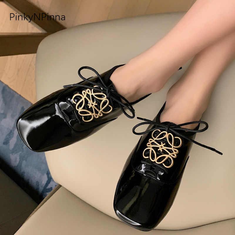 Chaussures Femmes Plat basses Pointu Boucle Mignon vernis Costume Chaussures De Loisirs