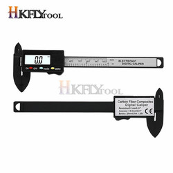 Caliper Practical 100 mm Plastic Electronic Digital Caliper with Large LCD Screen (Without Battery) Digital Kumpas