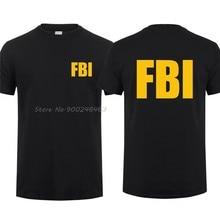 FBI T Shirt Uomo Fresco Stati Uniti T-Shirt Manica Corta FBI Shield Uomo Maglietta Degli Uomini di Cotone Magliette Magliette E Camicette Harajuku Streetwear
