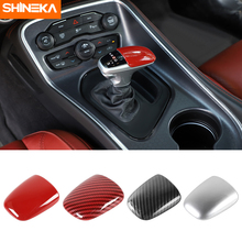 SHINEKA Gear Shift Knob For Dodge Charger 2015+ Car Gear Shift Knob Head Decor Cover Stickers For Dodge Challenger 2015-2019