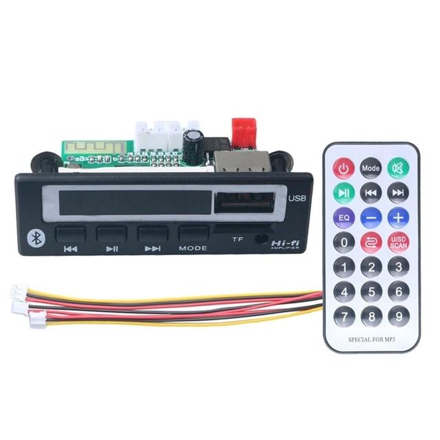 Tarjeta Wav con Bluetooth 5,0, Mp3 Wma descodificador, 5V, 12V, módulo de Audio inalámbrico, pantalla a Color, Usb, Tf, Radio Fm, para accesorios de coche