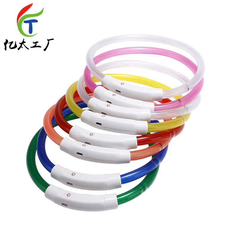USB Charging Luminous Collar Night Light Pet Collar LED Dog Neck Ring Dogs And Cats Applicable