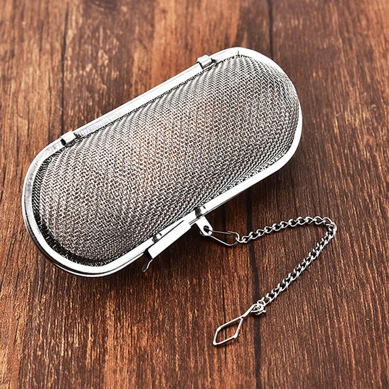 Kitchen Gadgets Reusable Spice Loose Tea Leaf Herbal Tool Tea Strainer Hanging Tea Infuser Stainless Steel Tea Accessories