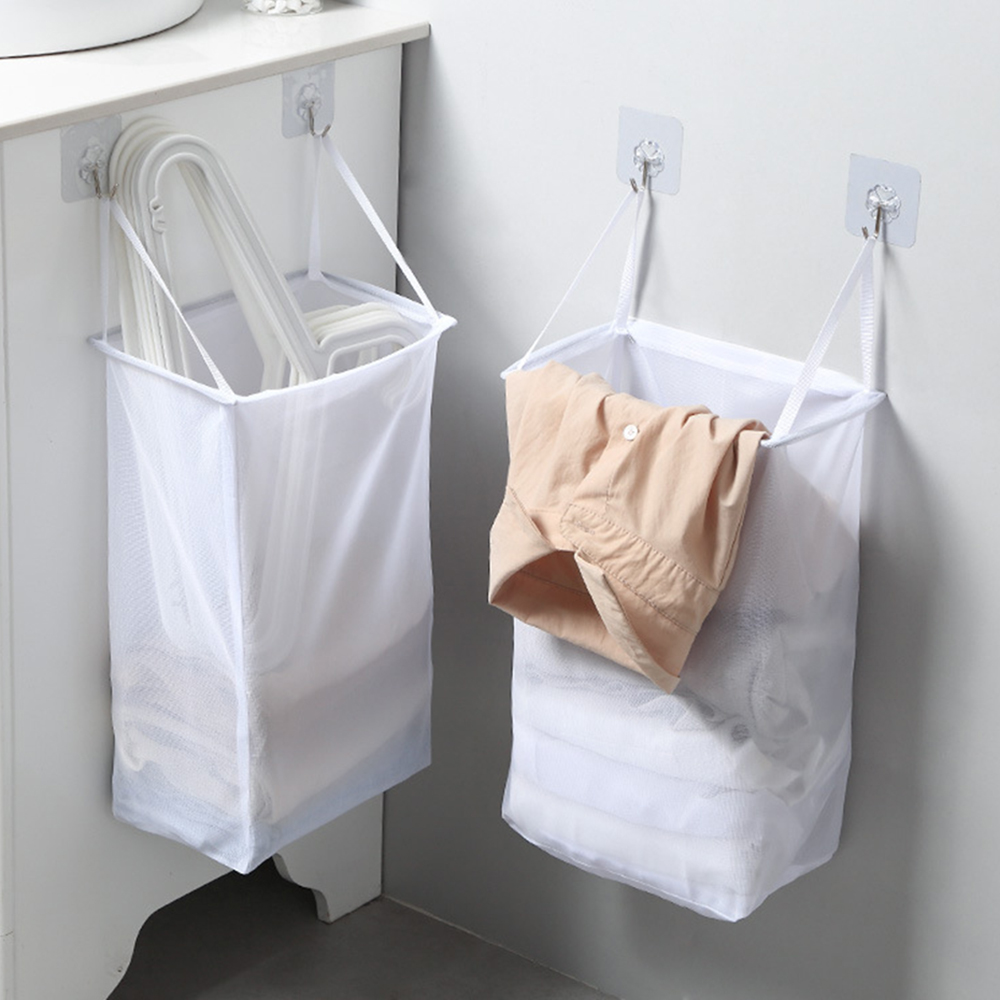 Wall-mounted Laundry Storage Bag Bathroom Storage Basket Dirty Laundry Basket Folding Household Laundry Basket Storage Bag